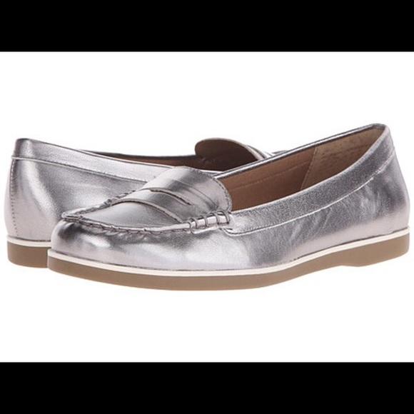 Lauren Ralph Lauren Tal Silver Metallic Loafers